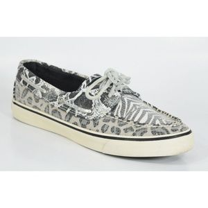 Sperry Top Sider Zebra Sequin Boat Shoe Sneakers